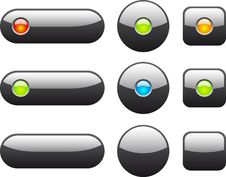 Free Collection Of Web Buttons. Royalty Free Stock Images - 13931409