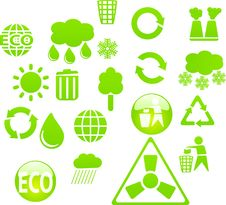 Free Eco Buttons Royalty Free Stock Image - 13931426