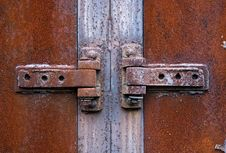 Free Rusty Metal Hinge Stock Images - 13931474