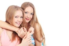 Free Two Girls Friends Royalty Free Stock Photography - 13931697