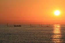 Twilight Fishermen Stock Photography