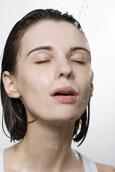 Free Portrait Of Wet Woman Stock Images - 13932344