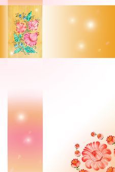 Free Background With Drawn Flowers Royalty Free Stock Image - 13932726