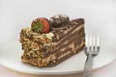 Free Cake On The Plate Royalty Free Stock Photography - 13934357