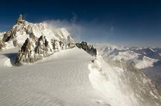 Free Blowing Mont Blanc Stock Photography - 13934652