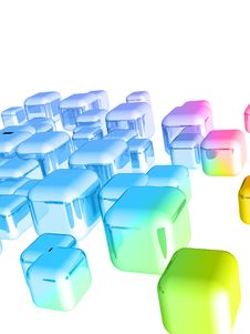 Free 3d Cubes Stock Photography - 13936492