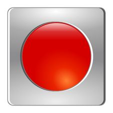 Free Colored Button On Chrome Royalty Free Stock Images - 13937519
