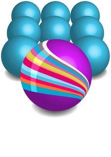 Free Colorful Vector Balls Stock Photos - 13938233