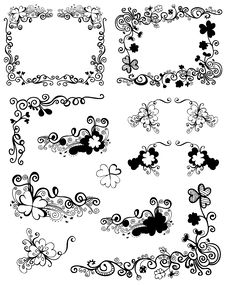 Free Floral Frames Royalty Free Stock Image - 13938376