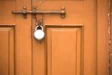 Free Old Closed Door With Lock Stock Images - 13938434
