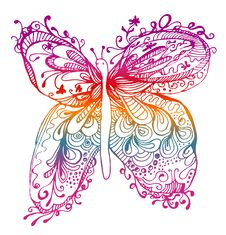 Free Abstract Butterfly Drawing Royalty Free Stock Images - 13938459