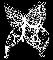 Free Abstract Butterfly Drawing Stock Photo - 13938460