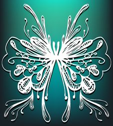 Free Abstract Butterfly Drawing Stock Photography - 13938472