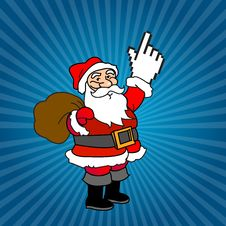 Free Santa Claus And Web Cursor Gifts Royalty Free Stock Image - 13938716