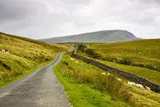 Free Welsh Mountain Road Royalty Free Stock Photography - 13939947