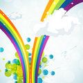 Free Abstract Rainbow Background Stock Images - 13941444