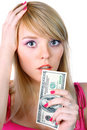 Free Woman Holding Money Royalty Free Stock Photography - 13946067