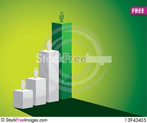 Free Green Shiny Bar Charts Royalty Free Stock Photo - 13943405