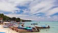 Free Boats On The Beach Royalty Free Stock Photos - 13940108