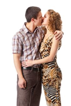Free Young Couple Kissing Stock Photo - 13940740