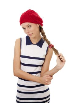Free Girl In Red Hat Stock Photo - 13940840