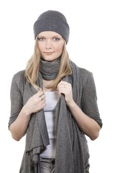 Free Girl In Grey Hat Royalty Free Stock Photos - 13940888