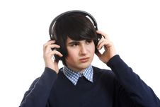Free Boy With Headphones Royalty Free Stock Photography - 13940927