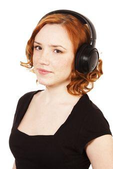 Free Girl With Headphones Stock Photo - 13940970