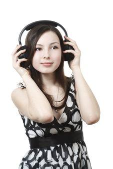 Free Girl With Headphones Stock Photos - 13941033