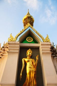 Pagoda Buddha In Thai Temple Stock Photo