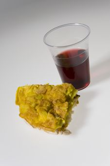 Free Omelet And Wine Stock Photo - 13943900