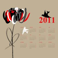 Free Calendar For 2011 Stock Image - 13944651