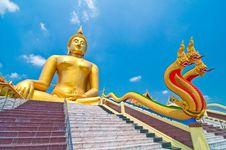 Free Buddha & Naga Stock Photos - 13944743