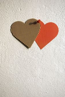 Free Paper Hearts Royalty Free Stock Photography - 13945437