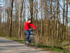 Free Bikers On A Biking Path In A Park Stock Photos - 13945523