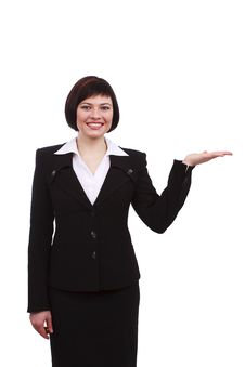 Busnesswoman Presenting Something Royalty Free Stock Image