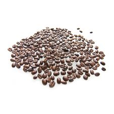 Free Coffee Beans On A White Background Stock Images - 13946084