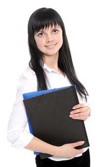 Free Confident Woman With A Folder Stock Photography - 13946452