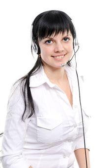 Free Service Representative In Headset Stock Photos - 13946533