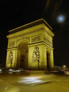 Free Arc De Triomphe Royalty Free Stock Photos - 13946538