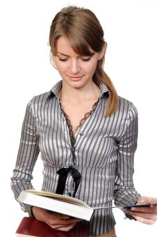 Free Beautiful Woman With Book Stock Photos - 13946613