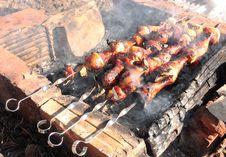 Kebab At Stake. Royalty Free Stock Photos
