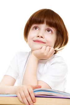 Free Little Girl Daydreaming Stock Images - 13947814