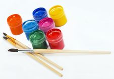 Free Brushes And Paints Royalty Free Stock Image - 13948186