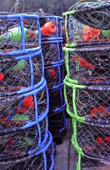 Free Crab Pots In Ilwaco , WA. Royalty Free Stock Photo - 13948665