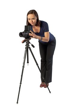 Free Beautiful Female Photographer Stock Photos - 13949743