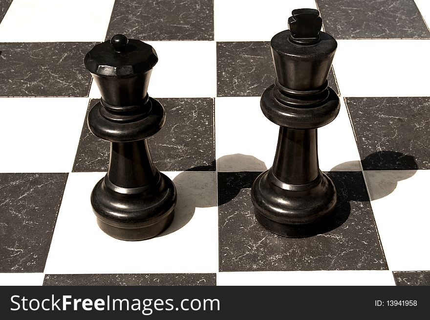 Big outdoor chess board.