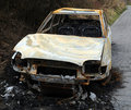 Free Car Burnt Out Wreckage Stock Image - 13951351