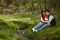 Free Young Couple In A Forest Stock Images - 13952354