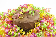 Party Chocolate Cake Stock Photos